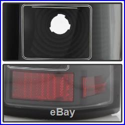 Black 1999-2006 GMC Sierra 1500 99-02 Chevy Siverado LED Tube Tail Lights Lamps