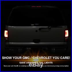 Black 2000-2006 Chevy Suburban Tahoe GMC Yukon Denali LED Light Bar Tail Lights