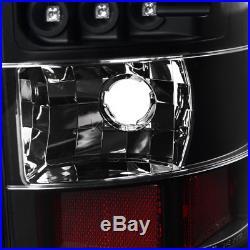 Black 2000-2006 Chevy Suburban Tahoe GMC Yukon Denali LED Tail Lights Left+Right