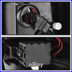 Black 2000-2006 Chevy Suburban Tahoe GMC Yukon LED Bar Tail Lights Brake Lamps
