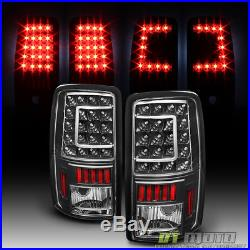 Black 2000-2006 Chevy Suburban Tahoe GMC Yukon XL LED C-Shape Tail lights Lamps