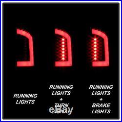 Black 2002-2006 Dodge Ram 1500 03-06 Ram 2500 3500 LED Tube Tail Lights Lamps