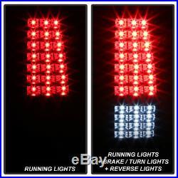 Black 2003-2006 Chevy Silverado 1500 2500 3500 Full LED Tail Lights Brake Lamps