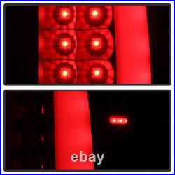 Black 2003-2006 Chevy Silverado 1500 2500 3500 LED Tube Tail Lights Brake Lamps