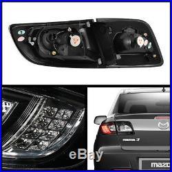 Black 2003-2008 Mazda 3 Mazda3 Lumileds LED Tail Lights Brake Lamps Left+Right
