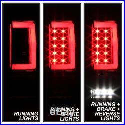 Black 2004-2008 Ford F150 LOBO Full LED Tube Tail Lights Brake Lamps Left+Right