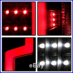 Black 2004-2012 Chevy Colorado GMC Canyon LED Light Tube Tail Lights Brake Lamps