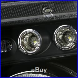 Black 2006-2008 Dodge Charger Halo LED Projector Headlights+LED Tail Lights