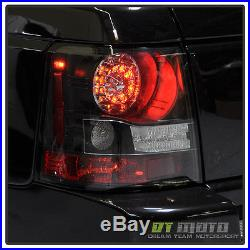 Black 2006-2009 Land Rover Range Rover Sport Lumileds LED Tail Lights Rear Lamps