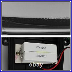 Black 2007-2008 Dodge Ram 1500 07-09 2500 3500 LED Tube Tail Lights Brake Lamps