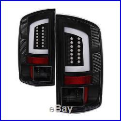 Black 2007-2008 Dodge Ram 1500 07-09 Ram 2500 3500 LED Tube Tail Lights Lamps