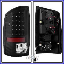 Black 2007-2008 Dodge Ram 1500 / 07-2009 2500 3500 LED Tail Lights Brake Lamps