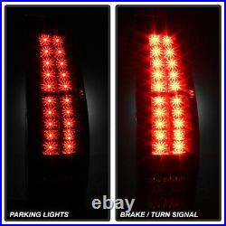 Black 2007-2013 Chevy Avalanche Lumileds LED Tail Lights Brake Lamps Left+Right
