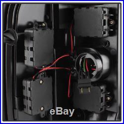 Black 2007-2013 Chevy Silverado 1500 2500 3500 LED Tube Tail Lights Brake Lamps