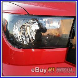 Black 2007-2013 Toyota Tundra Headlights + Led Tail Lamp Lights Left+Right 07-13