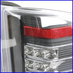 Black 2007-2014 Chevy Silverado 1500 2500 3500 Rear Brake LED Tail Lights
