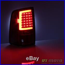 Black 2009-2018 Dodge Ram 1500 10-18 2500 3500 LED Bar Tail Lights Brake Lamps