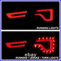 Black 2014-2019 Chevy Impala LED Light Tube Tail Lights Brake Lamps Left+Right