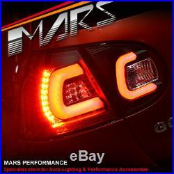 Black 3D Full LED Tail lights for VolksWagen VW Golf V 03-08 GTI GT R32 5 Hatch