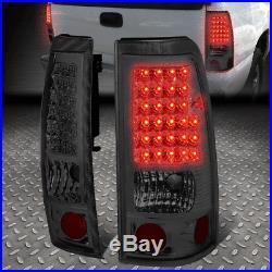 Black Amber Headlight+chrome Smoke Lens Led Tail Light For 99-02 Chevy Silverado