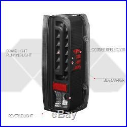 Black/ClearFULL LEDTail Light Brake Lamp for 90-97 Ford F150/F250/F350/Bronco