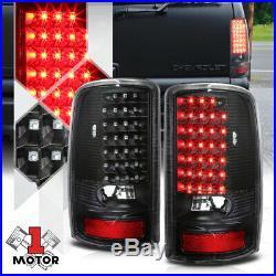 Black/Clear FULL LED Tail Light Brake Lamp for 00-06 GMC Yukon/Tahoe/Suburban