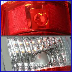 Black Clear Headlight+bumper+chrome Red Led Tail Light For 03-07 Chevy Silverado