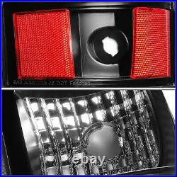Black Crystal Headlight+bumper+led Brake/tail Light For 03-07 Chevy Silverado