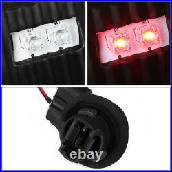 Black Dual Halo Projector Headlight+bumper+led Tail Light For 01-06 Yukon Denali