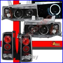 Black Halo LED Projector Headlights & Tail Lights For 04 05 06 Scion xB