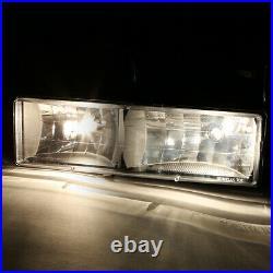 Black Headlight+amber Corner+bumper+clear Led Tail Light For 94-02 Chevy C10 C/k
