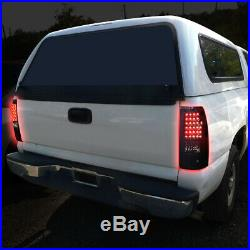 Black Headlight+clear Bumper+smoked Led Tail Light Set For 03-07 Chevy Silverado