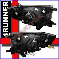 Black Headlights Corner Bumper & LED Tail Lights Set For 96-98 Toyota 4Runner