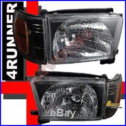 Black Headlights Corner Signal Lamps + LED Tail Lights For 99-02 Toyota 4Runner
