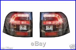 Black Housing LED TAIL LIGHTS for Holden Commodore SSV VE Ute suits Series 1 & 2
