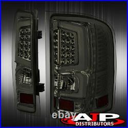 Black Housing Led Drl Headlights + Black Led Tail Lights For 2007-2013 Silverado