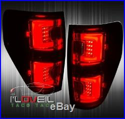 Black Housing Smoked Lens LED Tail Lights Brake Lamps For 2009-2014 Ford F-150