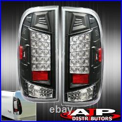 Black LED Tail Lights Brake Lamps For 1997-2003 F150 / 99-07 F250 F350 SuperDuty