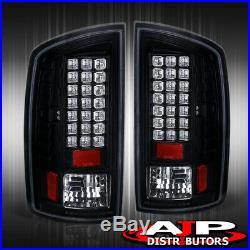 Black LED Tail Lights Brake Lamps For 2007-2008 Ram 1500 / 2007-2009 2500 3500