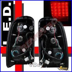 Black LED Tail Lights Lamps 1 Pair For 96-02 Toyota 4Runner SR5 Base Limited