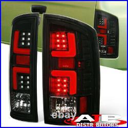 Black LED Tail Lights Red Tube For 2007-2008 Dodge Ram 1500 07-09 2500 3500