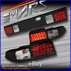Black LED Tail Lights & centre GARNISH for Nissan 240SX 200SX S14 SR20DET
