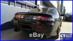 Black LED Tail lights & Black Garnish for 93-98 NISSAN SILVIA S14 200SX DMAX
