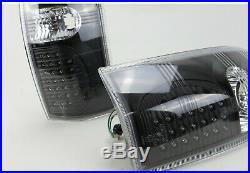 Black Led Tail Lights For Holden Commodore Vt Vx Vu Vy Vz Ute 1998-2006 Pair