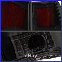 Black Lens Smoke 3d Led Tail Brake Light For 88-00 Chevy/gmc C/k 1500/2500/3500