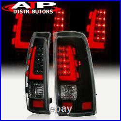 Black Red Tube LED Tail Lights Lamps Left+Right For 1999-2006 Silverado / Sierra
