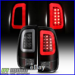 Black Smoke 1997-2003 Ford F150 99-07 F250 SuperDuty LED Tube Tail Lights Lamps