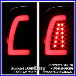 Black Smoke 1997-2003 Ford F-150 99-07 F-250 F-350 Light Tube LED Tail Lamp Set