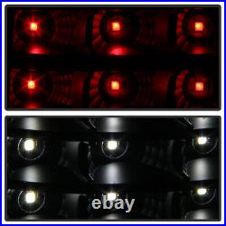 Black Smoke 1999-2006 GMC Sierra 1999-2002 Chevy Silverado Full LED Tail Lights