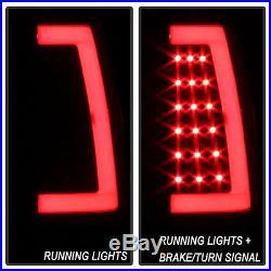 Black Smoke 1999-2006 GMC Sierra 99-02 Chevy Siverado LED Tube Tail Lights Lamps